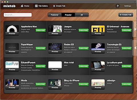 MixTab : Un excelente lector de Noticias para iPad y Mac